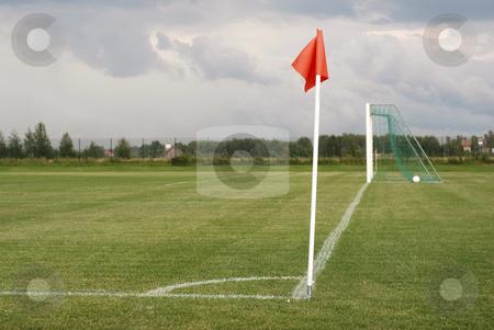 Soccer field stock photo, soccer field by makrofoto