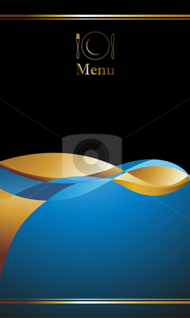 Menu cover design stock photo, illustration background for food industry, menu, cover by Cienpies Design