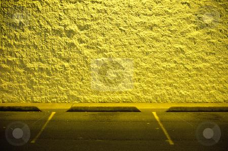 Empty Parking Lot at Night stock photo, Empty parking lot at night, concept photography by Bryan Mullennix