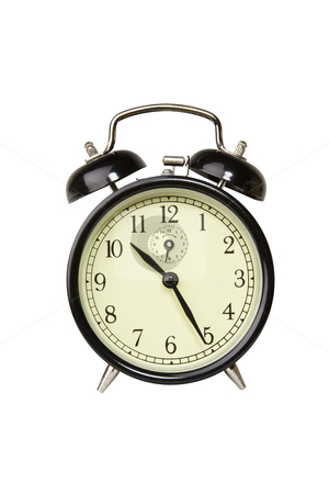 Alarm Clock - Photo Object  stock photo, Alarm clock, includes clipping path by Bryan Mullennix
