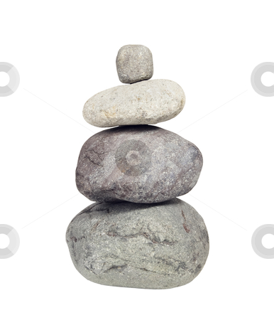 Stack of River Rocks,  Cairn - Photo Object  stock photo, Stack of river rocks also known as a Cairn, includes clipping path by Bryan Mullennix