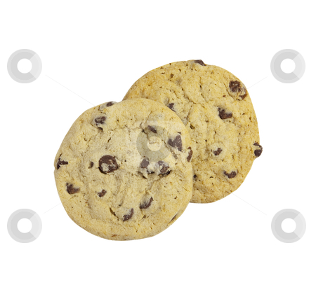 Cookies - Photo Object stock photo, Chocolate Chip Cookies, includes clipping path by Bryan Mullennix