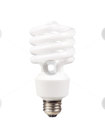 Light Bulb - Photo Object stock photo, Fluorescent light bulb, includes clipping path by Bryan Mullennix