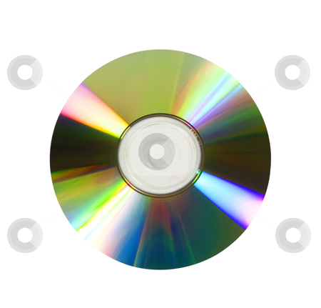 Compact Disc or DVD - Photo Object stock photo, Compact Disc or DVD,  clipping path included by Bryan Mullennix