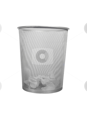 Waste Basket - Photo - Object stock photo, Waste basket, includes clipping path by Bryan Mullennix