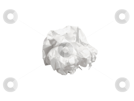 Crumpled Paper - Photo Object stock photo, Crumpled paper, includes clipping path by Bryan Mullennix