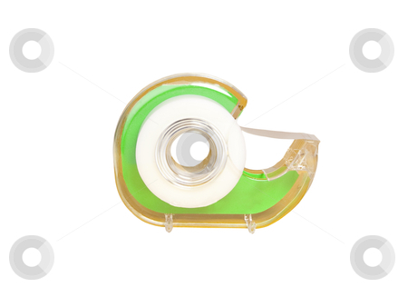 Tape Dispenser - Photo Object  stock photo, Tape Dispenser, includes clipping path by Bryan Mullennix
