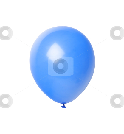 Blue Balloon - Photo Object stock photo, Blue Balloon, includes clipping path by Bryan Mullennix