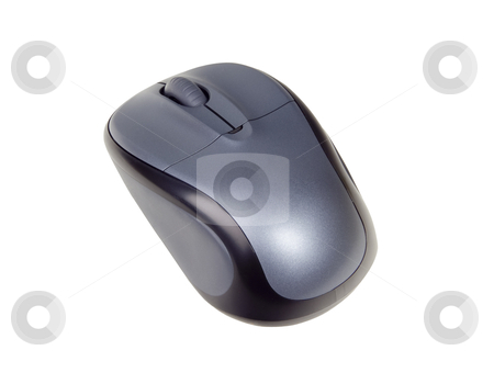 Wireless computer Mouse - Photo Object stock photo, Wireless computer mouse, includes clipping path by Bryan Mullennix