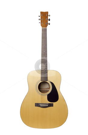 Guitar - Photo Object stock photo, Acoustic guitar, includes clipping path by Bryan Mullennix