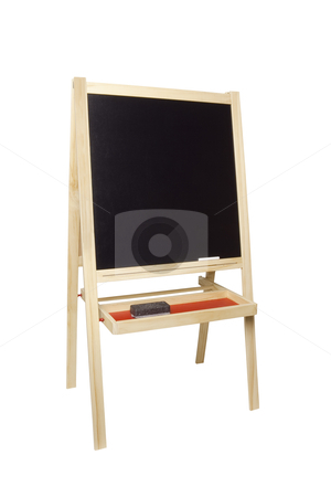 Chalkboard and Easel - Photo Object stock photo, Chalkboard and Easel, includes clipping path by Bryan Mullennix