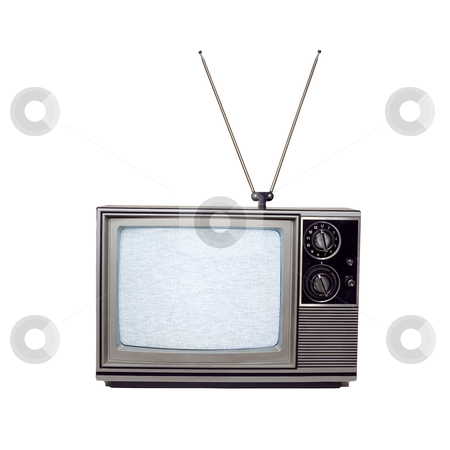 Retro Television - Photo Object stock photo, Retro television, includes clipping path by Bryan Mullennix