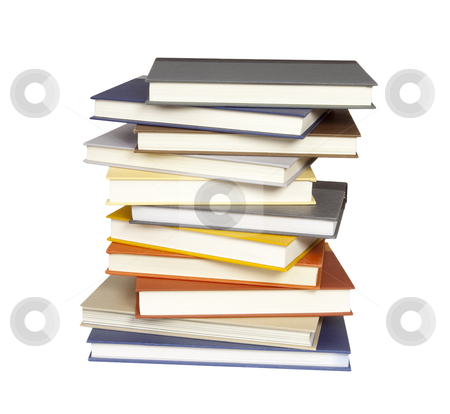 Stack of Books - Photo Object stock photo, Stack of books, with clipping path included by Bryan Mullennix