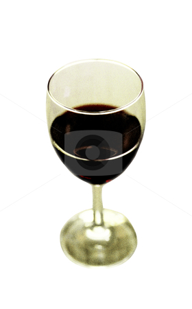 Wine and Wine Glass - Photo Object stock photo, Wine and wine glass, grainy, includes clipping path by Bryan Mullennix
