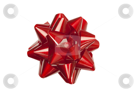 Red Bow - Photo Object stock photo, Red festive bow, clipping path included by Bryan Mullennix