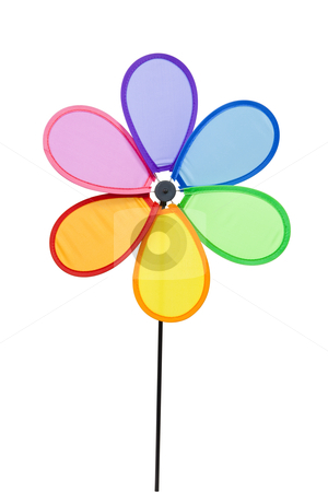 Pinwheel stock photo, Colorful Pinwheel, clipping path included by Bryan Mullennix
