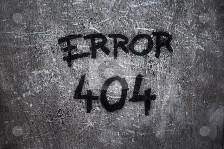 Error 404 stock photo, error 404 on grunge background by J?