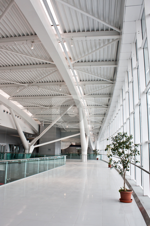 New Bucharest Airport - 2011 stock photo, New euro60 million (US$84 million) second terminal at the capital's main airport by Perseomedusa