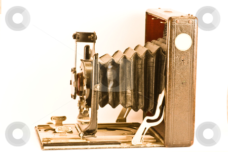 Antique camera stock photo, Antique camera, aged 1900, from Germany, currently in an Italian collection by Perseomedusa