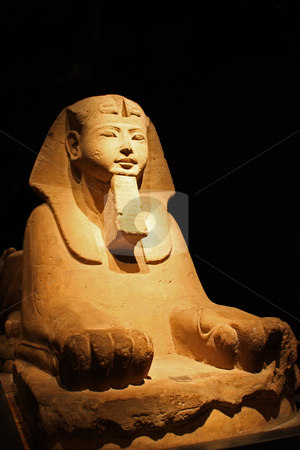 The Sphinx - front view stock photo, Egyptian statue in the Museo Egizio, in Turin, Italy. This museum is specialising in Egyptian archaelogy and anthropology. It houses the world's largest and most comprehensive collection of Egyptian antiquities outside the Egyptian Museum in Cairo by Perseomedusa