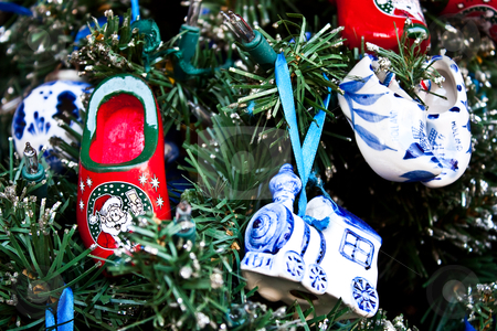 Christmas decorations stock photo, Detail of traditional Christmas decorations in Holland by Perseomedusa