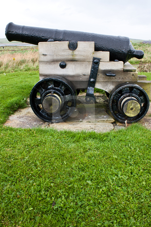 Cannon stock photo, Traditional cannon, approximative 200 years old. Useful for concepts. by Perseomedusa