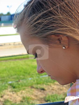 Depressed teen stock photo, teenage girl being depressed and worried  by lizapixels