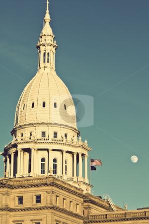 State Capitol of Michigan  stock photo, State Capitol of Michigan in Lansing. by Henryk Sadura
