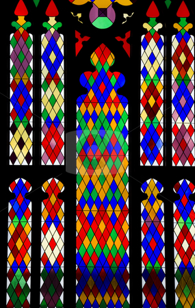Colorful window in old State Capitol Building  stock photo, Colorful window in old State Capitol Building, Baton Rouge by Henryk Sadura