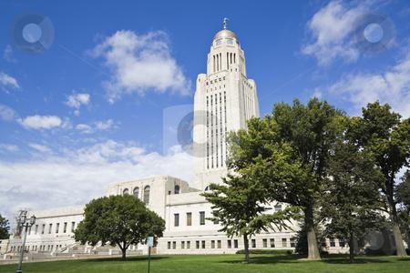 Lincoln, Nebraska - State Capitol Building stock photo, Lincoln, Nebraska - State Capitol Building with the trees by Henryk Sadura
