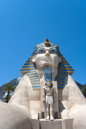 Luxor Hotel Sphinx stock photo, May 25th, 2009 - Las Vegas, Nevada, USA  The Sphinx entrance to the Luxor Hotel and Casino on Las Vegas Boulevard by Kevin Tietz