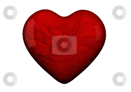 Heart shape in Red stock photo, Heart shape in red with textures by marphotography