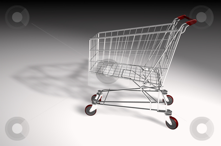 Market trolley isolated stock photo, Concept of internet sales with a market trolley isolated by marphotography