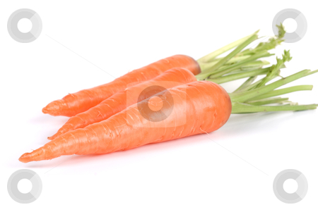 Carrots stock photo, Ripe carrots isolated on a white background by olinchuk