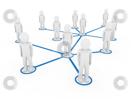 3d men network social blue stock photo, 3d men network social blue people connection teamwork by d3images