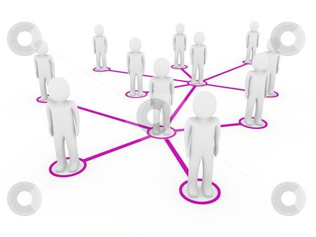 3d men network social purple stock photo, 3d men network social purple people connection teamwork by d3images