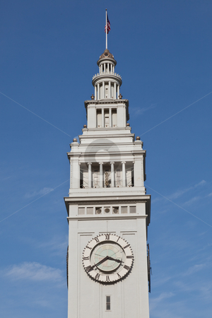 Ferry Building stock photo, San Francisco Ferry Building is a terminal for ferries that travel across the San Francisco Bay and a shopping center by Mariusz Jurgielewicz