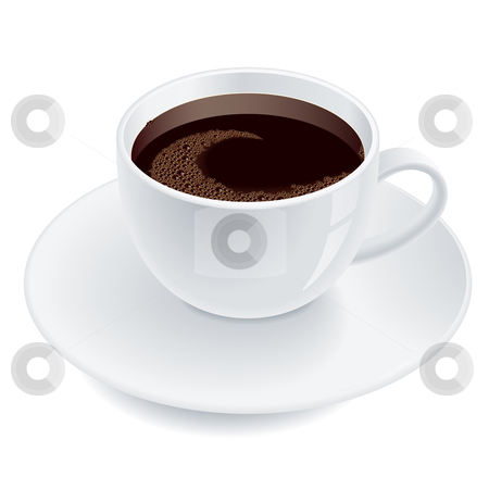A cup of coffee. stock photo, A cup of coffee illustration. Isolated on white background. by dvarg