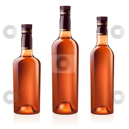 Bottles of cognac (brandy). Vector illustration. stock photo, Realistic vector bottles of cognac (brandy). Isolated on white background by dvarg