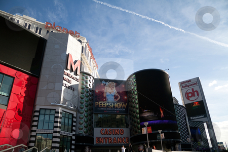 Planet Hollywood hotel stock photo, LAS VEGAS, NEVADA, USA - DECEMBER 30th, 2009 - The facade or front of Planet Hollywood Hotel and Casino on Las Vegas boulevard, taken on December 30th, 2009 in Las Vegas, Nevada, USA by Kevin Tietz