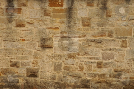 Old brick wall stock photo, old brick wall made of stone blocks, belongs to barracks in sydney by Robert Remen
