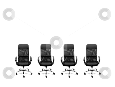 Chairs stock photo, Office chair isolated against a white background by Kitch Bain