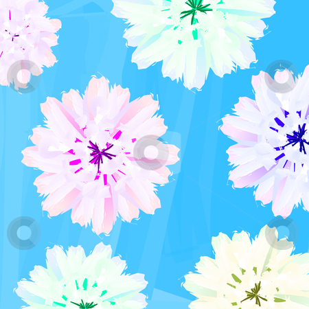 Pastel flowers stock photo, Pastel floral background, abstract art by Richard Laschon