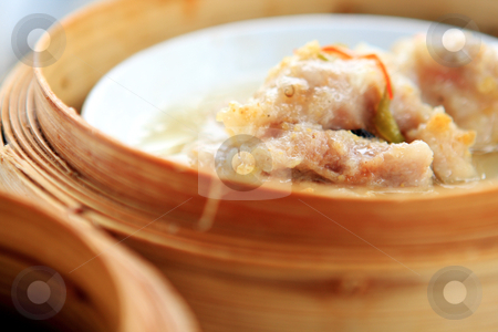 Chinese dim sum stock photo, chinese dim sum, focus on the food . by Keng po Leung