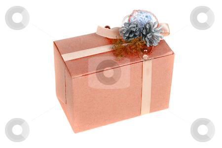 Gift box stock photo, gift box isolated on a white background by olinchuk