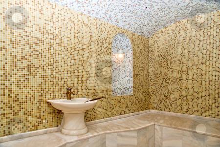 Turkish bath stock photo, Turkish bath with ceramic tile in roman style by olinchuk