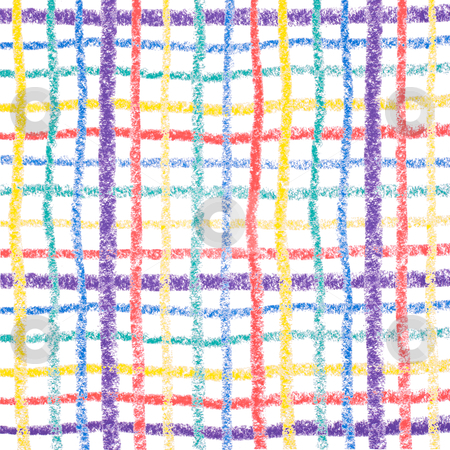 Hand drawing colorful crayon lines stock photo, Hand drawing colorful crayon lines, isolated on white background by Lawren