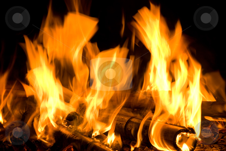 Fire flame texture stock photo, fire flame texture, concept of hot  or warm  night  by Lawren