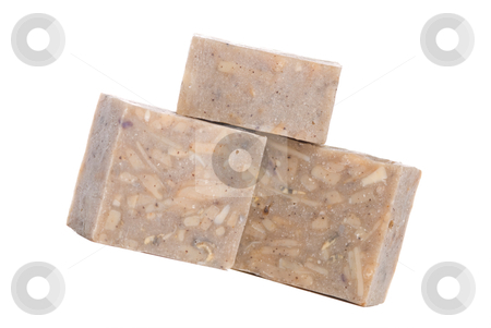 Isolated handmade soap stock photo, Isolated handmade soap on white background. It made up by natural herb.  by Lawren