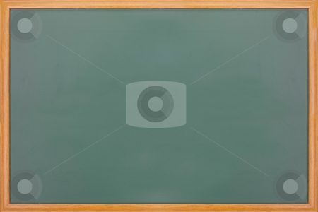 Blank balckboard with wooden frame stock photo, New blank blackboard with wooden frame by Lawren